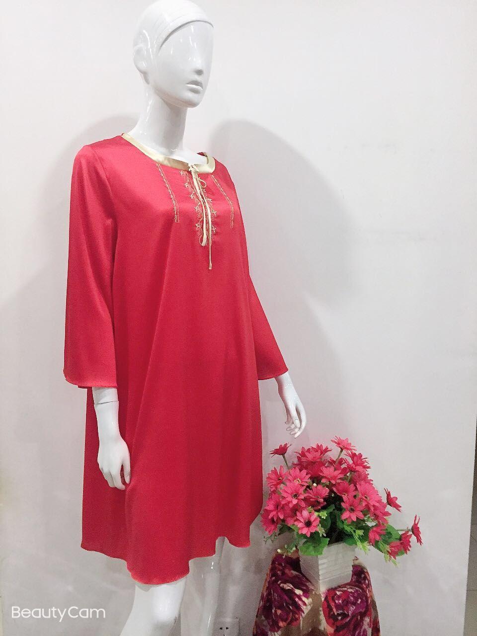 XS1703B五色简-长袖家居裙